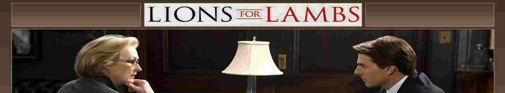 Lions for Lambs Movie Banner
