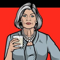 Malory Archer played by Jessica Walter