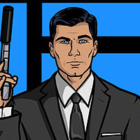 Sterling Archer played by H. Jon Benjamin