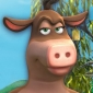 Bessy the Cow Back at the Barnyard