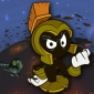 Marvin the Martian as The Martian Commander Duck Dodgers