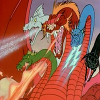 Tiamat played by Frank Welker