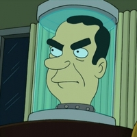 President Richard Nixon's Head Futurama