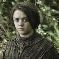 Arya Stark played by Maisie Williams