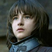 Bran Stark played by Isaac Hempstead-Wright