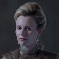 Queen Rynda played by Tanya Clarke