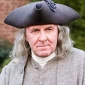 Benjamin Franklin played by Tom Wilkinson