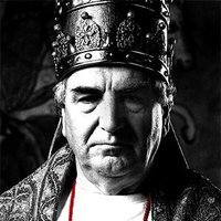 Pope Boniface VIII played by Jim Carter