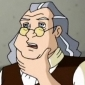 Benjamin Franklin played by Walter Cronkite