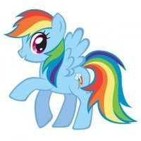 Rainbow Dash played by Ashleigh Ball