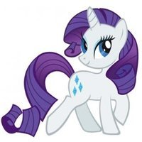 Rarity played by Tabitha St. Germain