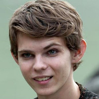 Peter Pan played by Robbie Kay