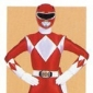 The Red Ranger played by Steve Cardenas