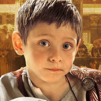 Caesarion young played by Nicolo Brecci