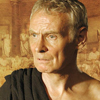 Porcius Cato played by Karl Johnson