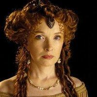 Servilia of the Junii played by Lindsay Duncan