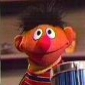 Ernie played by Jim Henson
