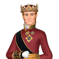 King Roland II played by Travis Willingham