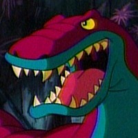Chomps the Dinosaur played by Dee Bradley Baker