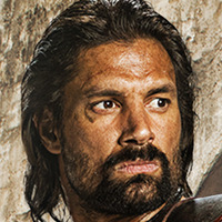 Crixus played by Manu Bennett