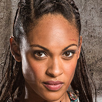 Naevia played by Cynthia Addai-Robinson