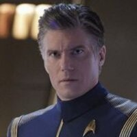 Captain Christopher Pike played by Anson Mount