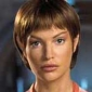 Sub-Commander T'Pol (later Commander) played by Jolene Blalock