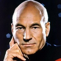 Captain Jean-Luc Picard played by Patrick Stewart