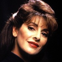 Counselor Deanna Troi played by Marina Sirtis
