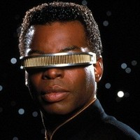 Lieutenant Commander Geordi La Forge played by LeVar Burton