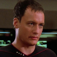 Q played by John de Lancie
