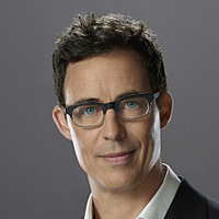 Dr. Harrison Wells played by Tom Cavanagh