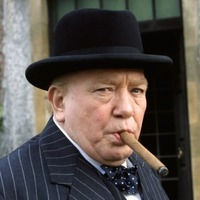 Winston Churchill played by Albert Finney
