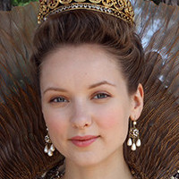 Queen Anne played by Alexandra Dowling