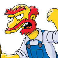 Groundskeeper Willie played by Dan Castellaneta