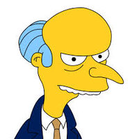 Montgomery Burns played by Harry Shearer