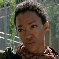 Sasha played by Sonequa Martin-Green