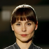 Dr. Eve Lockhart played by Tara Fitzgerald
