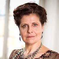 Anna Mikhaylovna played by Rebecca Front