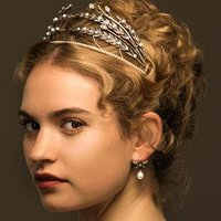 Natasha Rostova played by Lily James