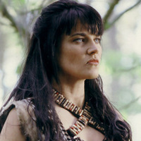 Xena played by Lucy Lawless