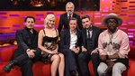 19x08 - James McAvoy, Johnny Depp, Jack Whitehall, Jennifer Lawrence and music from Will.i.am featuring Pia Mia.