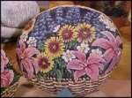 17x14 - Painted Rock Garden, Photo Album, Rooster Teapots