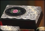 18x58 - Rose Jewelry Box, Kaleidoscope Pattern Pendant