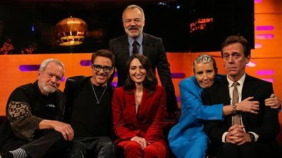 The Graham Norton Show (UK) - 26x16 Robert Downey Jr, Emma Thompson, Hugh  Laurie & Terry Gilliam Screenshot