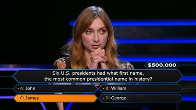 Who Wants to Be a Millionaire - 20x08 In The Hot Seat: Lauren Lapkus and Anderson Cooper Screenshot