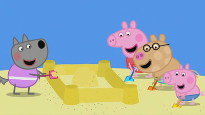 Peppa Pig - 06x52 The Sandcastle Screenshot