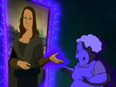 Courage the Cowardly Dog - 03x08 So in Louvre Are We Two / Night of the Scarecrow