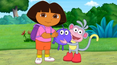 dora and boots must help baby winky get back to his familys spaceship before it returns to the purple planet
