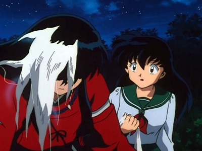 Inuyasha - 01x13 The Mystery of the New Moon and the Black-haired Inuyasha
